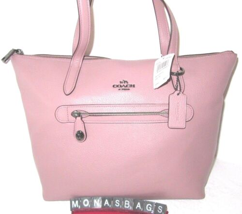 Coach Authentic New 38312 Taylor Tote Bag Dusty Rose Pebble Leather New NWT $275