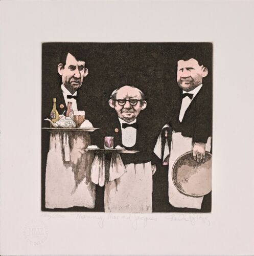 Charles Bragg - Manny, Moe & Jacques, hand-signed etching