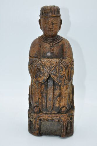 Chinese Carved Bamboo Statue 18th Century
