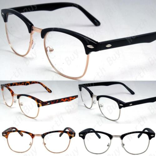 Clear Lens Fashion Eye Glasses Retro Horn Rim Nerd Geek Men Women Hipster Frame