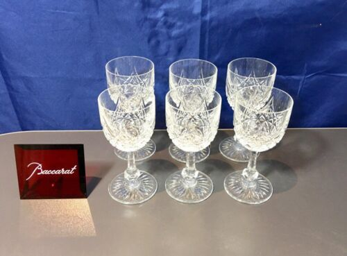 Baccarat Crystal Colbert Set 6 Sherry / Vermouth glasses NEW IN BOX