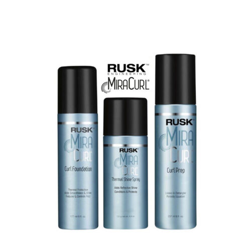 Rusk MiraCurl STYLING PRODUCTS - Curl Foundation Curl Prep Thermal Shine Spray