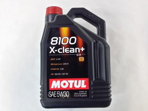 106377 Motul 8100 X-CLEAN + 5W30 100% Synthetic Performance Engine Oil (5 Liter)
