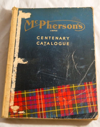 DIFFICULT TO FIND - MCPHERSON'S LIMITED CENTENARY CATALOGUE DECEMBER 1958