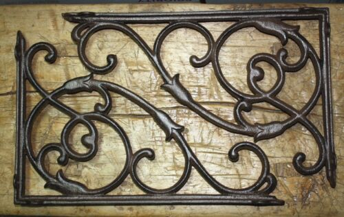 2 Cast Iron Antique Style HUGE VINE Brackets Garden Braces Shelf Bracket HD