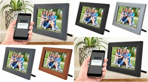 """Life Made Digital Touch-Screen 10"""" Picture Frame with Wi-Fi - All Colors - SLRFB"""