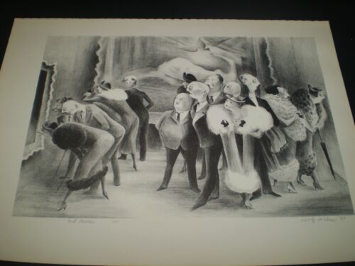 """""""ART LOVERS"""" ADOLPH DEHN. 1939 VINTAGE BOOK PLATE #34. GREAT DEPRESSION."""