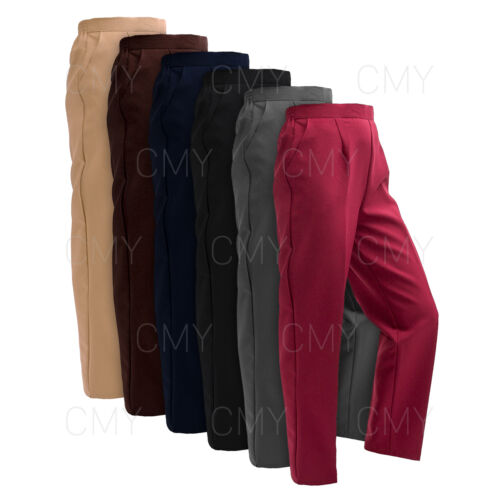 NEW WOMENS LADIES HALF ELASTICATED WAIST TROUSERS POCKETS PANTS PLUS SIZES NEW <br/> *UK SELLER*PLUS SIZES*EXCELLENT QUALITY*FAST DISPATCH*