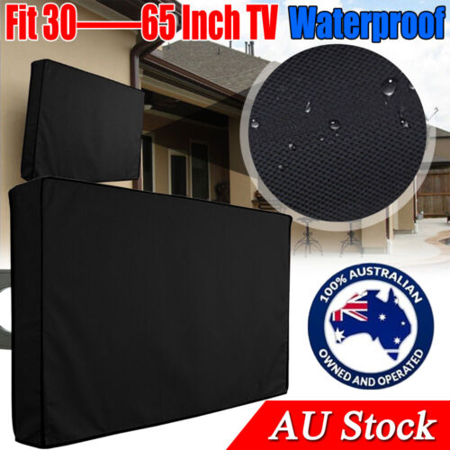 30-65 Inch Dustproof Waterproof TV Cover Outdoor Patio Flat Television Protector <br/> 3 layer protection☆Black☆Weatherproof☆Fast & Free Post☆
