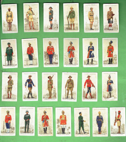 #D396.  FORTY-EIGHT (48) 1938 MILITARY UNIFORMS  CIGARETTE CARDS