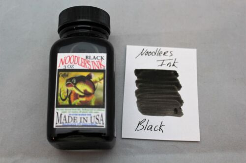 NOODLERS FOUNTAIN PEN INK 3 OZ BOTTLE BULLETPROOF BLACK