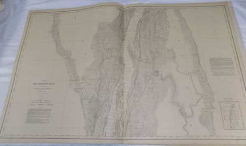1893 Detailed Map of MISSISSIPPI RIVER/Between CANTON MO & WARSAW IL/24x38""