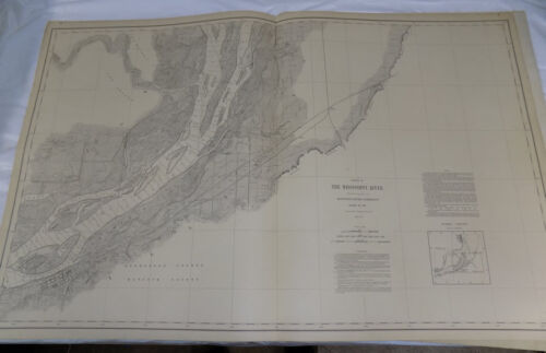 1894 Detailed Map of MISSISSIPPI RIVER/Near FORT MADISON & BURLINGTON, IA/24x38""
