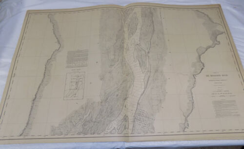 1894 Detailed Map of MISSISSIPPI RIVER/ In & North of OQUAWKA, IL /24x38""