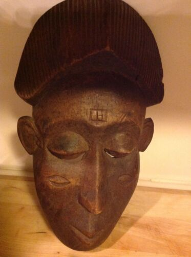 Wonderful Old African Wood Mask by Baule People, The Ivory Coast - Great Patina