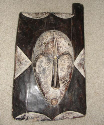VERY OLD BAULE IVORY COAST DOOR WALL WINDOW MASK AFRICA TRIBAL ANTIQUE FANG NGIL