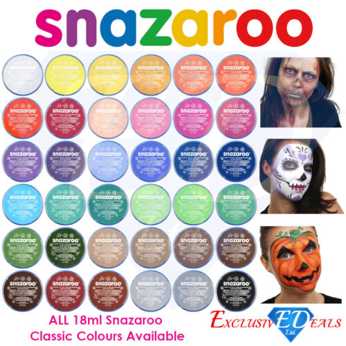 Snazaroo Face Paint & Body Make Up Many Colours Stage Fancy Dress Halloween 18ml <br/> EXTRA 5% OFF WHEN YOU BUY 6+ ✔ OVER 35000+ SOLD ✔