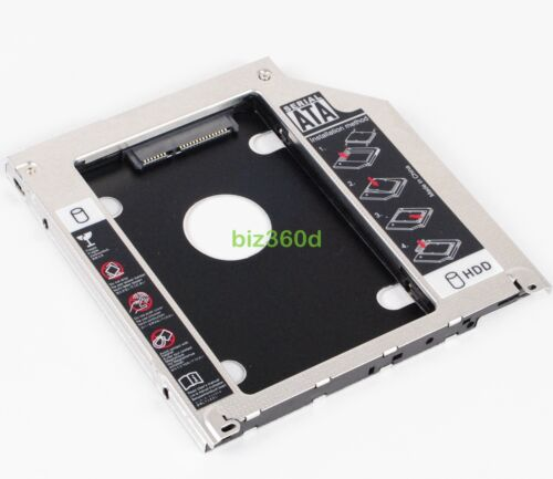 """2ND Hard Drive SATA Case 2.5"""" HDD SSD Caddy Bay For Apple Macbook Pro Unibody"""