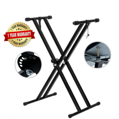 AU X Type Folding Keyboard Stand Height Adjustable Music Piano Double Braced