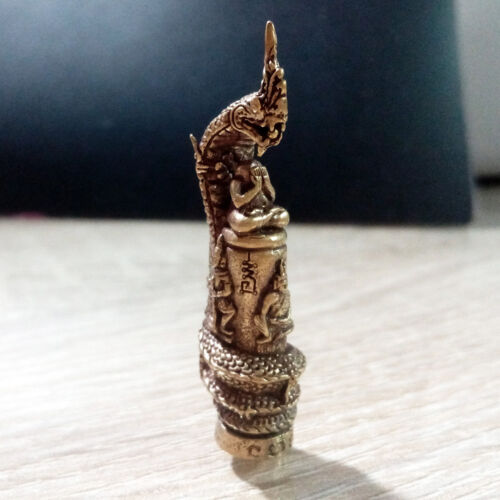 Thai Buddha Amulet Nagas pole statue Deities Limited Sacred Protect Lucky Rich