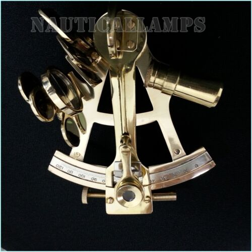 """Solid Brass Sextant 4"""" Astrolabe Marine Nautical Maritime Gift Ships Instrument"""