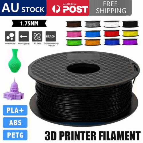 1.75mm 3D Printer Filament PLA/ PETG/ABS Accuracy +/- 0.02mm 2.2 LBS (1KG) Spool