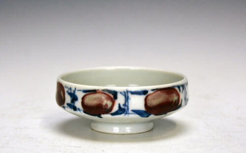 Antique Chinese Qing Underglazed Enamel Blue and White Porcelain Brush Washer