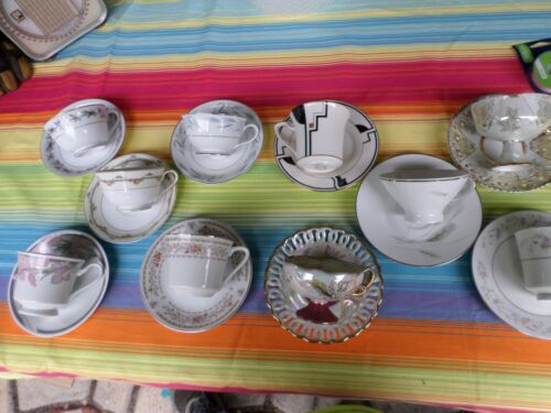Lot of 10 Tea Cups and Saucer Sets  10-6
