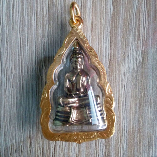 Buddha LP Sothorn Pendant Brass Thai Amulets Sacred Lucky Rich Success wish NBA
