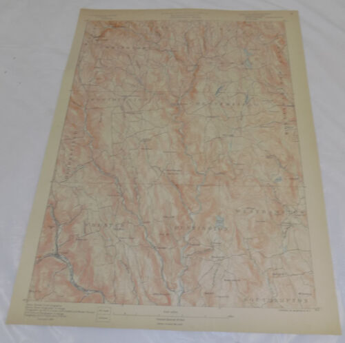 1890 Topo Map of CHESTERFIELD QUADRANGLE, MA, WESTERN MASSACHUSETTS