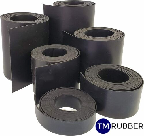 INSERTION RUBBER STRIPS 50MM WIDE X 3 MM THICK 10 METRE ROLL FREE POST!