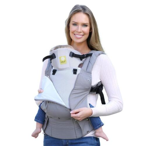 LILLE Baby 6 in 1 Complete All Seasons Breathable 3D Mesh GREY STONE Carrier NEW