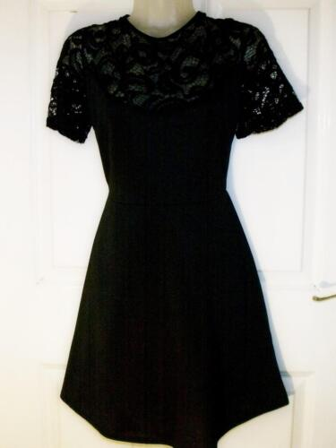 NEW QUALITY RARE LONDON BLACK LACE DRESS/TOP SIZE 16/18  # 263