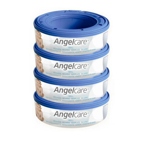 4PK Angelcare Baby Nappy Diaper Disposal System Bin Cassette Refill For Disposal