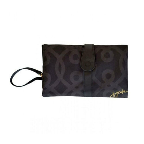 Baby Nappy Diaper Wallet Clutch Bag Foldable Changing Change Mat Black Gold