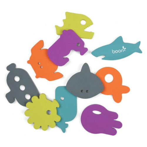 10pc Boon Baby Appliques Dive Float Wall Stick Bath Tub Toys for Kids Toddlers
