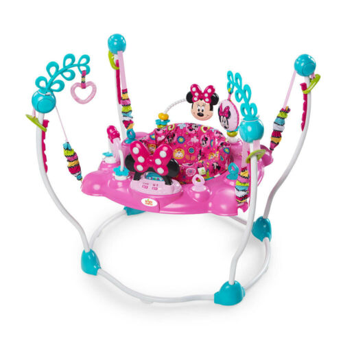 Bright Stars Disney Minnie Mouse Sounds Lights Toys Jumper Tray for Baby