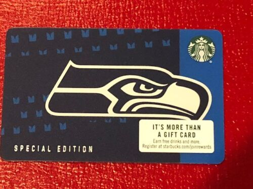 2018 Starbucks SEATTLE SEAHAWKS Gift Card Limited Edn w/ NFL Hologram - New Mint