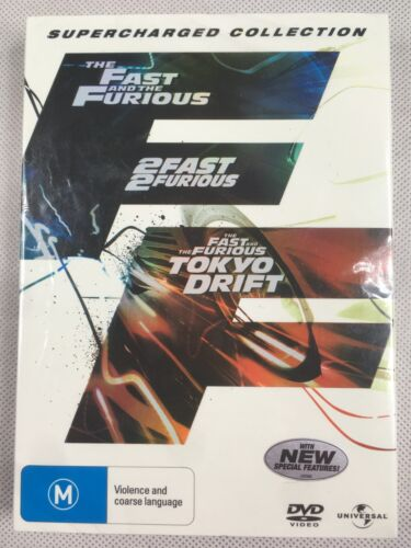 Fast And The Furious_2 Fast 2 Furious_Tokyo Drift - 3 Movie Set - VGC - R4