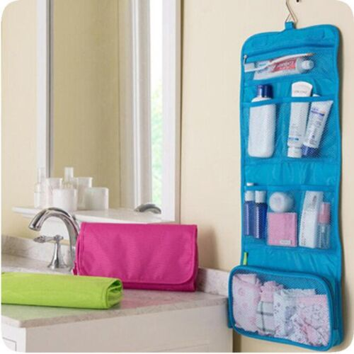 Travel Makeup Cosmetic Bathroom Toiletry Wash Shower Storage Bag Case With Hook