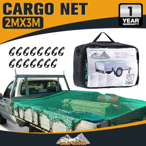 Cargo Net 2X3 Ute Trailer Truck 2Mx3M Nylon 35Mm Mesh Bungee Cord With 15Pc Hook <br/> 20% off* with code PATRON20. Ends 29/10.T&Cs apply.