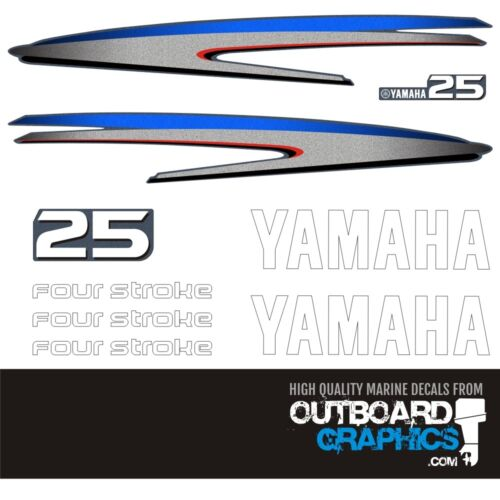 YAMAHA 25hp OUTBOARD DECALS 2 Stroke