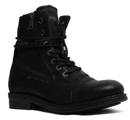 Replay Wickham Men Leather Ankle Biker boots In Black Size UK 6 - 12