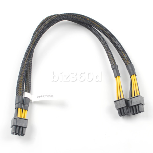 35cm 8pin to 6pin+8pin Power Adapter Cable for IBM X3650 M4 M5 to GPU video card