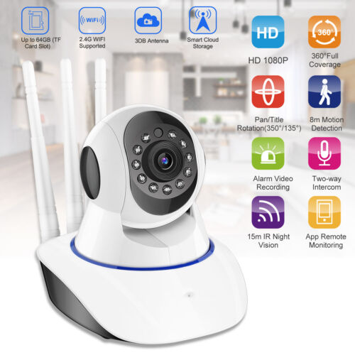 HD 1080P Wireless IP Security Camera Indoor CCTV Home Smart WIFI Baby Monitor US
