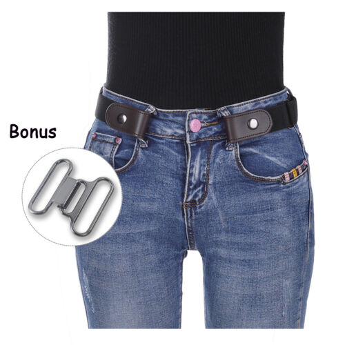 Women's Buckle-free Elastic Band Invisible Waist Belt for Jeans No Bulge Hassle
