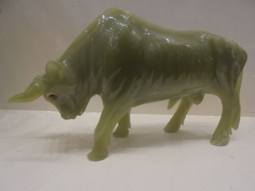 SPLENDIDA SCULTURA ONICE PAKISTAN TORO-BULL:SCULPTURE PAKISTAN ONYX-MADE ITALY
