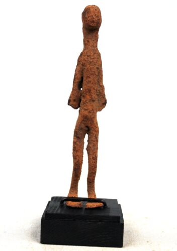 Art African - Antique Figure Forged Iron Lobi - With Base - 14,5 CMS