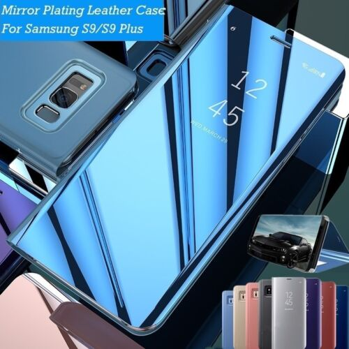 Mirror Flip Case Smart Stand Cover for Samsung Galaxy Note 10 Plus S7 S8 S9 S10+