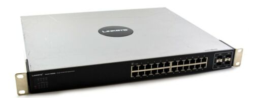 LINKSYS 24 PORT GIGABIT 10/100/1000 MANAGED SWITCH  SGE2000 CISCO SMALL BUSINESS